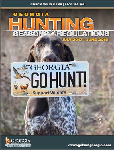 2017-2018 Georgia Hunting Seasons and Regulations Guide