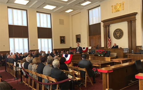 Collins Honors Judge Sidney Smith at Courthouse Naming