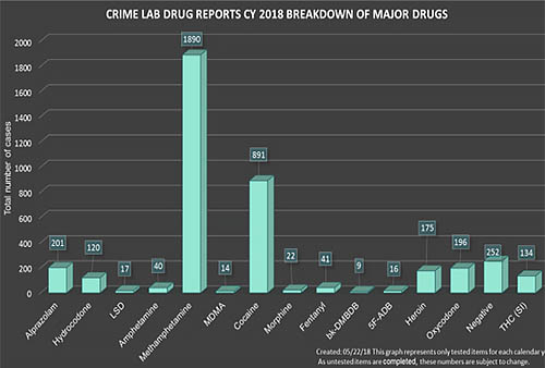 GBI Crime Lab Drug Reports CY 2018 Breakdown on Major Drugs