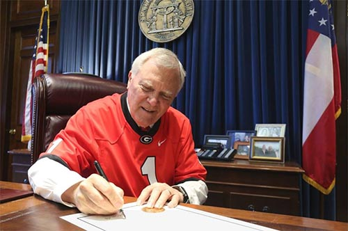 "Governor Deal declares January 5, 2018 ""UGA Football Friday"