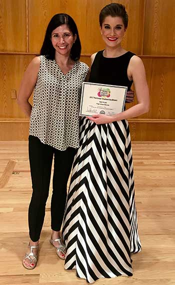 Victoria Hill is pictured with her voice instructor, Dr. Reverie Berger.