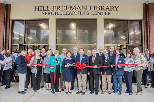 Ribbon Cutting Ceremony for renovated Hill Freeman Library and Spruill Learning Center